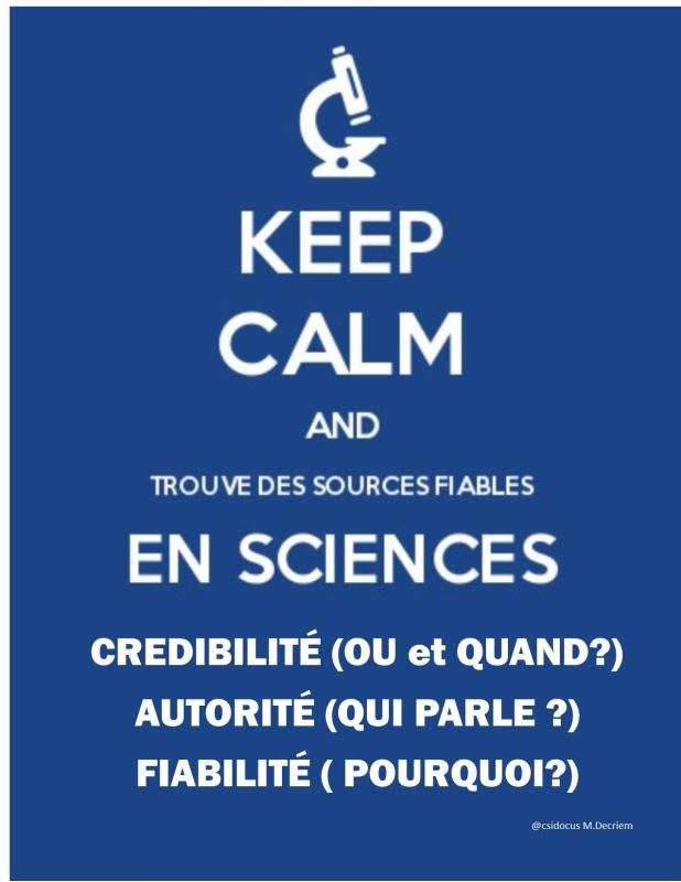 Keep calm and sources scientifiques